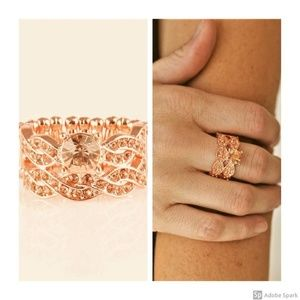 Fairytale Fabulous Copper Rhinestone Stretch Ring
